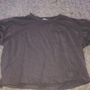 grey cropped t shirt